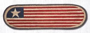 AMERICAN FLAG 100% Natural Braided Jute Rug, 27