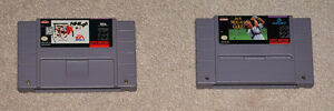 Lot of 2 Super Nintendo SNES Games, NHL 96 Jack Nicklaus Golf