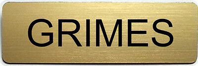 Walking Dead Costumes For Halloween (GRIMES WALKING DEAD POLICE NAME BADGE FOR HALLOWEEN COSTUME PIN SHIPS)