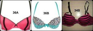 New Womens La Senza Bras Sizes: 36A-36B