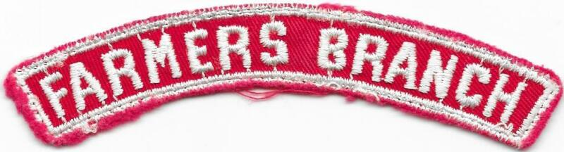 Farmers Branch Red and White RWS Community Strip Vintage Boy Scouts BSA