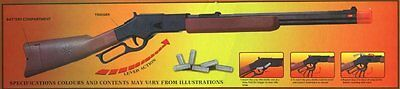 Western Lone Star Ranger Lever Action Rifle Toy Gun with Ejecting Bullets
