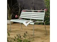Home Metal 2 Seater Garden Bench - Grey B