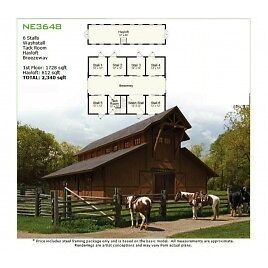 Equestrian Horse Stable steel framing kit by GreenTerraHomes