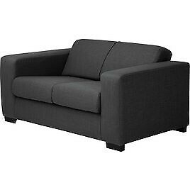 Compact 2 Seater Fabric Sofa Charcoal