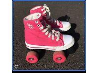 Rookie Roller Skates Canvas High, Pink, size UK 13
