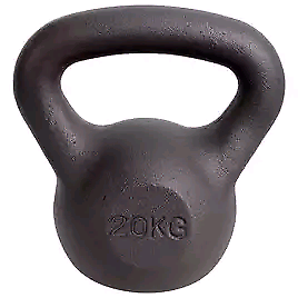 20 KG BRAND NEW BOXED CAST IRON KETTLE BELL