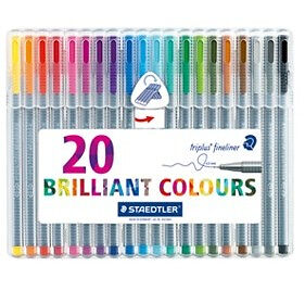 Staedtler 334 Triplus Fineliner Superfine Point Pens 03 mm 20 Assorted Colours - Cambridge, United Kingdom - Staedtler 334 Triplus Fineliner Superfine Point Pens 03 mm 20 Assorted Colours - Cambridge, United Kingdom