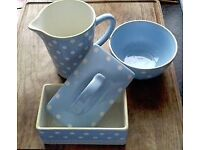 Baby Blue Breakfast Crockery Set