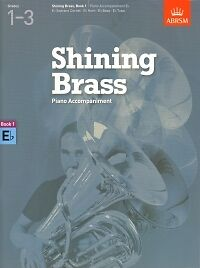 SHINING BRASS Book 1 Piano Accomps for Eb Insts AB