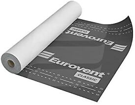 Eurovent Breathable Roof Membrane/Felt - 1.5m x 50m (75 SQ/M) - 120 G/SM