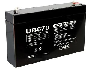 UB670 Universal 6 Volt 7AH Battery D5734  - BRAND NEW