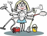 Cleaning lady/housecleaner services (residential) - 438-880-2712