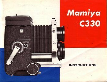 MAMIYA C33 C330 PROFESSIONAL INSTRUCTION MANUAL BOOK