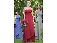 2 wine Raylia Shana bridemaids dresses , size 10 and size 12 - £40