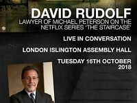 1x ticket - David Rudolf - The Staircase - Islington Assembly Hall - Tuesday 16th October - SOLD OUT