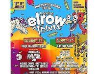4x Elrow Town Tickets GA, Sun 19/08, face value £45 each