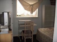 room is £100 per week plus 10 pounds bill short term is £140 per week from 1 day to any length like