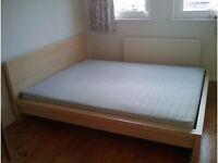 ikea malm double bed frame beech veneer