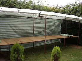 Market stall complete with boards clips & waterproof cover 18 ft