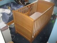 Solid beech wood cot, Mam and Papa's 'Zoe'