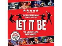 Beatles Let it Be at Hull New Theatre 5 tickets
