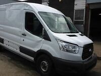 FORD TRANSIT NEW SHAPE DOOR WINDOW GLASS 2014 2015 2016 2017 OSF USED