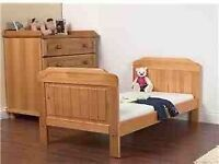 children beds, beds base and mattress £20 each wardrobe bookshelf £40, bed side table £10 new heate