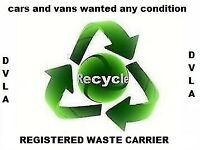 cars and vans wanted all makes all models non runners accident damaged mot failures