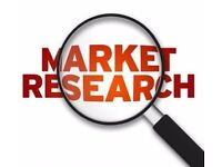 Market Research, £10 for 1 hour. Willesden Green, NW2