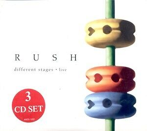 RUSH**DIFFERENT STAGES: LIVE**3 CD SET