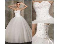 Brand New Unworn Stunning Ivory/White Wedding Dress