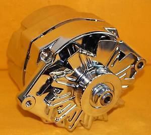 Pro Series Chevy Gm Olds Chrome 1 One 3 wire Alternator Sbc Bbc 100 Amp Buick