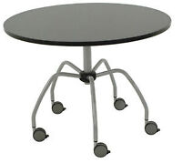 "New 40"" (102 cm) Meeting Table/Desk/Dining Table, locking wheels"
