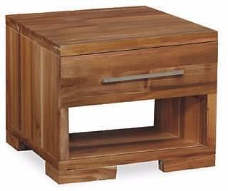 "Hardwood ""Clifford"" 1 Drawer Blackwood Lamp Side Table"