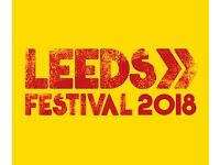 Leeds Festival Camping tickets Saturday and Sunday £100 each.