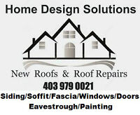 New Roof /  Roof Repair   403 979 0021  Home Design Solutions