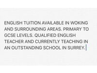 Primary to GCSE level tuition in Surrey