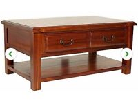 Coffee Table Almost Brand New - Dunelm Winchester Acacia Coffee Table