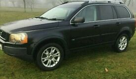 Must sell 2006 sapphire pearl black full leather volvo xc90 fsh rare manual diesel 146k