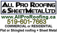 Flat Roofing & Shingles — over 40 years of Pro Experience!