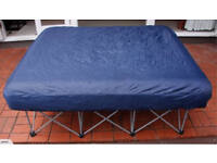 Double Foldable Air Bed (Assembled Dimensions: 137 w x 187 l x 61 h cm) (Unused)