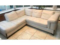 L-Shaped Leather Sofa.