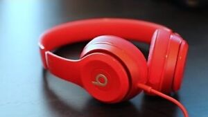 Beats Solo HD Headphones MINT - red genuine dre