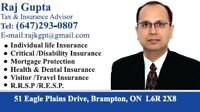 VISITOR'S/SUPER VISA INSURANCE,RRSP,RESP,LIFE/CRITICAL INSURANCE