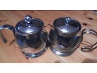 Glass Tea Pots x 12 / classy and great looking / used / great condition