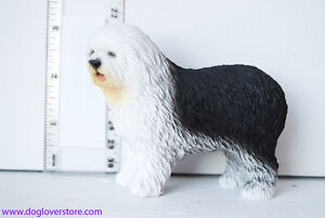 Old English Sheepdog Hand Painted Dog Figurine Statue