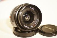 minolta AF 28 2.8 wide angle prime lens for sony dslr