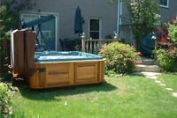 hot tub and electrical removal set up
