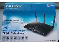TP Link Archer D2 AC750 Wireless Router ADSL2+